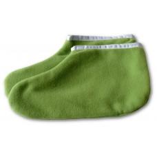 Návleky froté na nohy na parafín zelené 1 pár